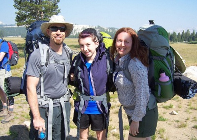 Going backpacking! Yosemite National Park 2013.