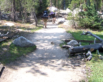 Backpacking from Tuolumne Meadows to Yosemite Valley 2013.