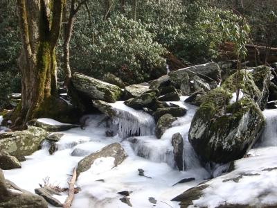 Catawba Falls Hike, NC, Feb. 2015.